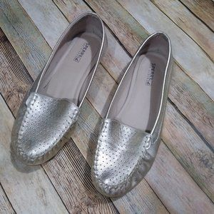 Sperry Top-Sider Georgia Loafers Shoes Metallic Size 10 Slip On Workwear